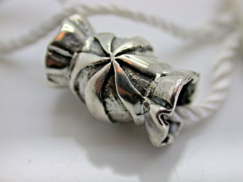 .925 STERLING SILVER EUROPEAN BONBON CANDY WRAPPED CANDY CHARM NEW WITH TAGS