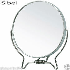 Sibel Metal SMALL Stand Up Shaving Mirror Makeup Artist or Hairdressing