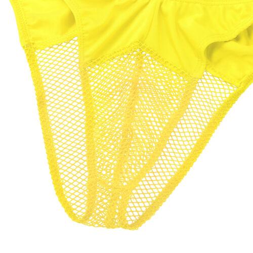 Men/'s résille Bikini Briefs Trunks Sous-vêtements Shorts Ardennes Pouch Sissy G-Strings