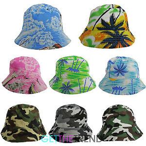 Mens-Womens-Hawaiian-Sun-Hat-Camo-Army-Bucket-Funny-Summer-Holiday-Novelty-Hat