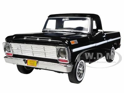PartBroken 1969 FORD F-100 PICKUP TRUCK BLACK 1/24 BY MOTORMAX 79315