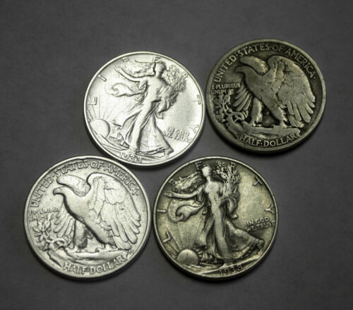 Average Grade of Coin You Receive is Photographed 1938-p Walking Liberty Half