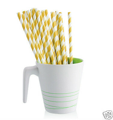 25 Stripe Drinking Straws Classic Straws for Any Parties UK Seller