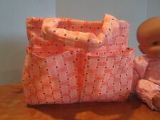 homemade baby doll diaper bag berenguer/american bitty baby peach