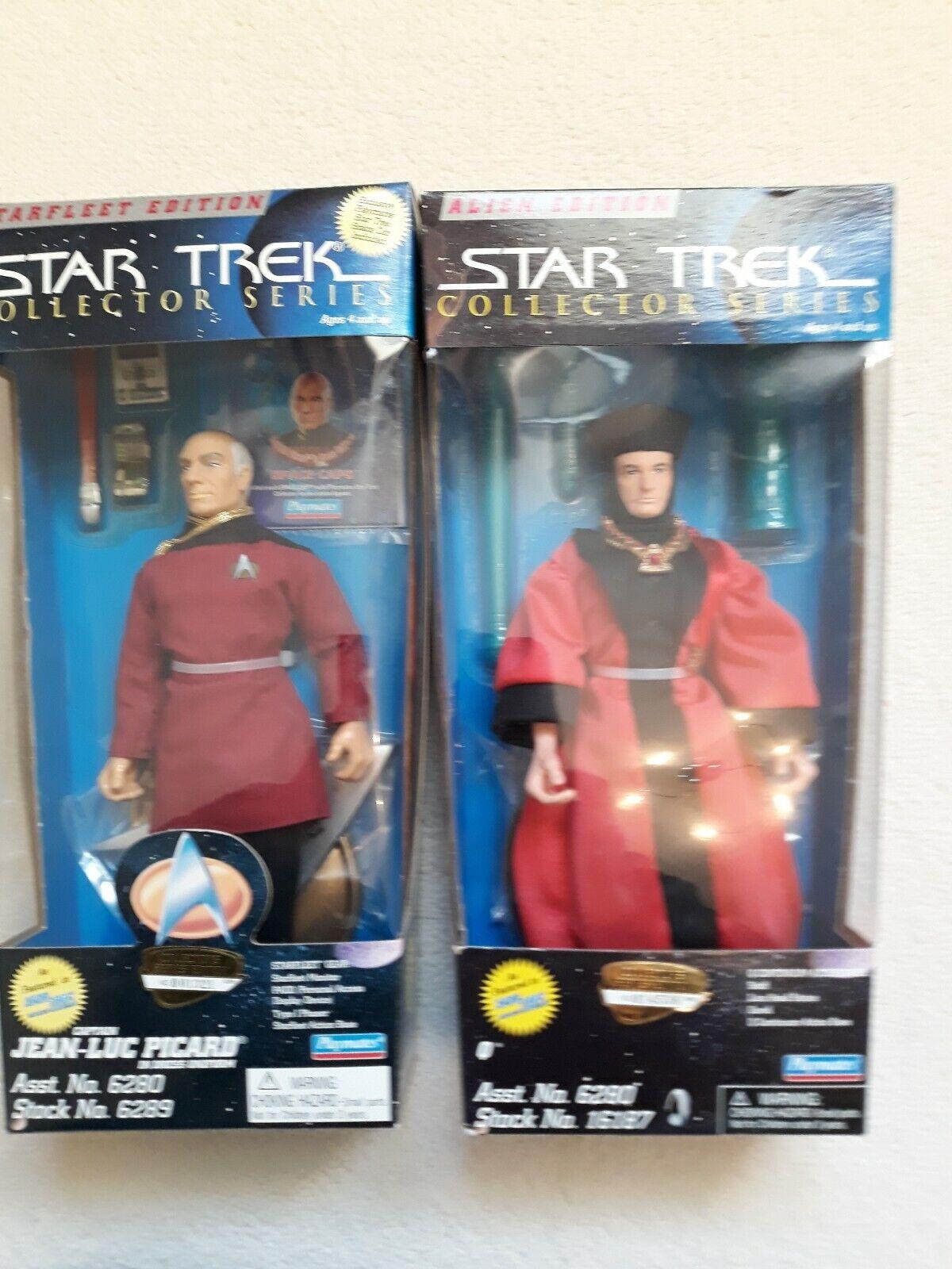2 Playmates Star Trek 9  Action Figures Figures Figures dolls of Q. Alien picard dress uniform 44787b