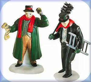 Department-56-Town-Crier-amp-Chimney-Sweep-Dickens-Village-Accessories