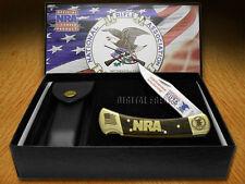 BUCK 110 NRA National Rifle Association Wooden Folding Hunter Pocket Knives