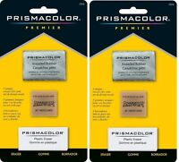 2 Packs - Sanford Prismacolor Premier Art Erasers Value Pack - 3 Styles In Each