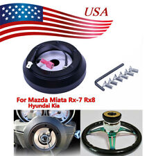 Steering Wheel Short Hub Adapter Quick Release Kit For Mazda Miata Rx 7 Rx 8