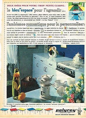 Publicité Advertising 1961 Mobilier Meubles Revetement Polyrey Breweriana, Beer Efficient J Other Breweriana