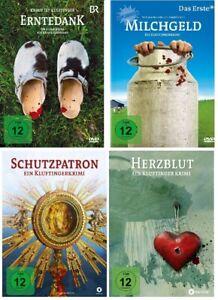 4-DVDs-DIE-KLUFTINGER-KRIMIS-ERNTE-HERZ-MILCH-SCHUTZ-IM-SET-NEU-OVP
