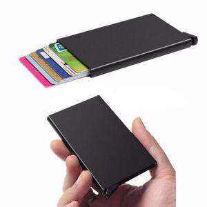 696af1086983 Details about Men Womens Metal ID Credit Card Holder Cover Protector  Aluminum Wallet Card Case