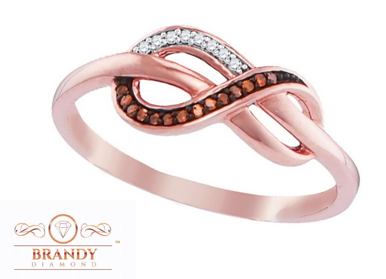 10K gold Infinity Brandy Diamond® Chocolate Brown Gorgeous Infinity Ring