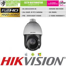 HIKVISION PTZ IP SECURITY CAMERA 2 MEGAPIXEL FULL HD 1080P 20x ZOOM POE 100M IR