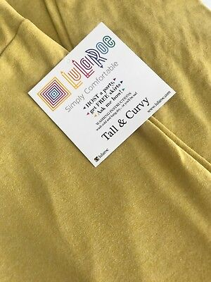 Lularoe TC Tall Curvy Leggings Solid Yellow Mustard Dandelion Unicorn Pants New*