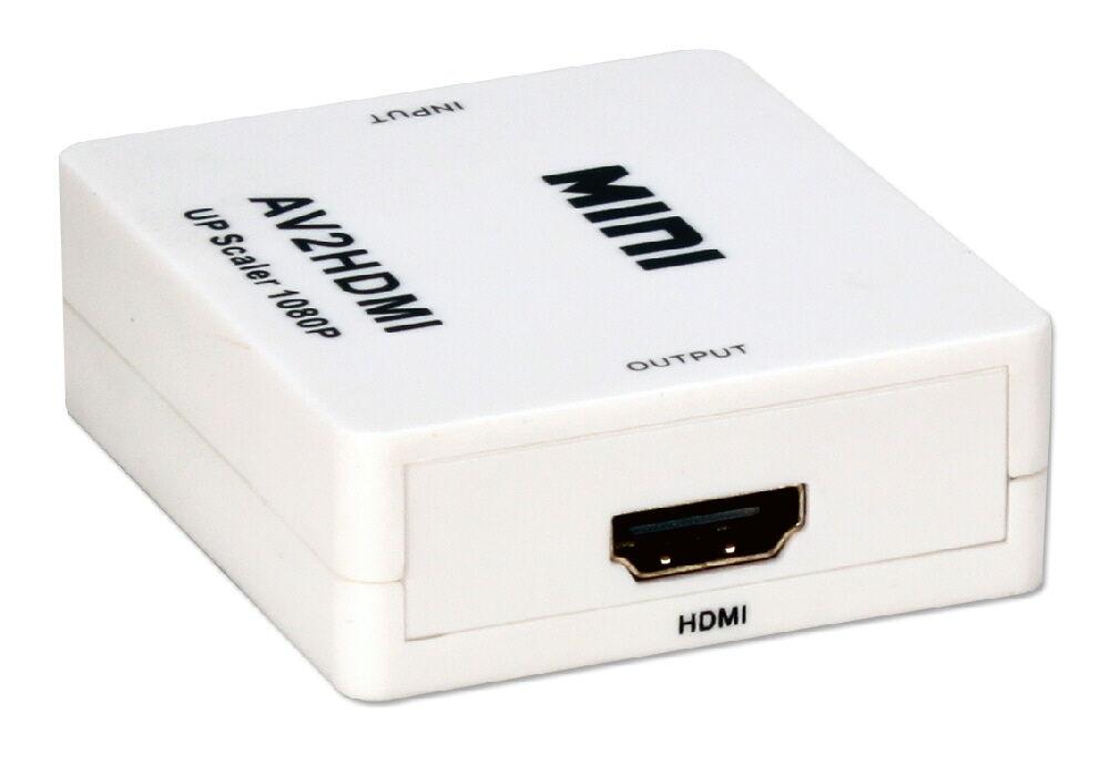 QVS 3 RCA Composite Video CVBS L/R Audio AV to HDMI Converter Adapter Upscaler | Ebay