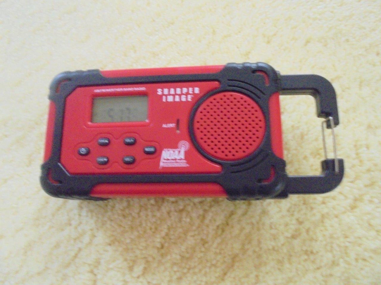 Sharper Image Solar Hand Cranked  Dynamo Power Radio  Multi-Purpose USB Charger  best price