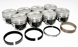 Sealed-Power-Chevy-400-4-165-034-Flat-Top-Pistons-amp-Moly-Ring-Kit-SBC-040-H616CP40