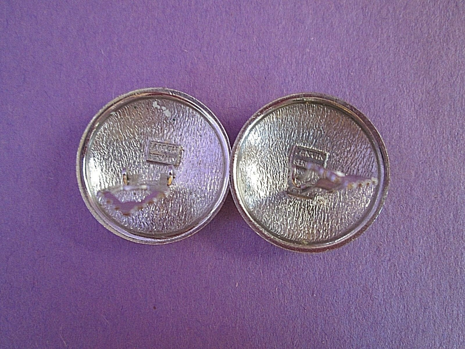 Lanvin Silver Tone Clip Earrings Germany Signed V… - image 4