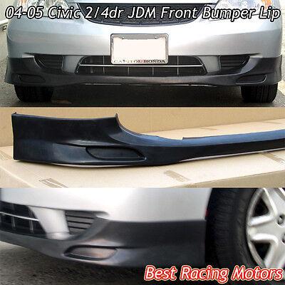 JDM Style Front Bumper Lip (Urethane) Fits 04-05 Honda Civic 2/4dr