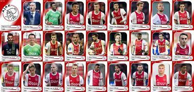 Ajax d/'Amsterdam football squad trading cards 2017-18