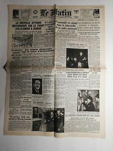 N440-La-Une-Du-Journal-Le-Matin-4-novembre-1942-nouvelle-attaque-britannique