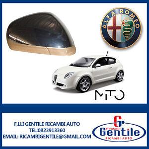 Alfa Romeo MITO 2008 CALOTTA RETROVISORE DESTRO CROMATA DX Lato Passeggero