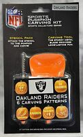 Oakland Raiders Halloween Pumpkin Carving Kit Stencils For Jack-o-latern