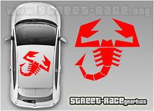 FIAT 500 TETTO ABARTH Scorpion 003 Decalcomanie Adesivi Vinile Grafica