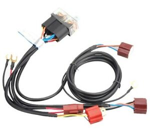 H4-Head-Light-Relay-Harness-Booster-Loom-Kit-Universal-Fitment-Upto-100-130w