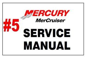Mercury Mercruiser 5 Tr Trs Stern Drive Units Service Repair Manual Complete Ebay
