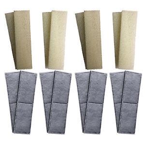 8-x-compatible-Fluval-U4-mousse-et-Polycarbon-cartouches-filtre-interne-eponges