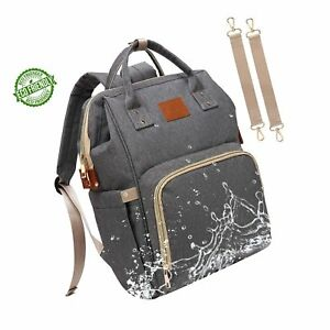 Baby Diaper Bag Backpack – Large Diaper Backpack for Mom Dad with ... b75f3d6f905ac