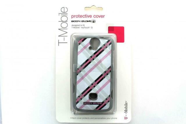 T-Mobile Body Glove Huawei MyTouch Q Case - Gray with Pink and Black