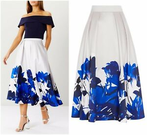 ex-Coast-Bold-Floral-Print-Pocket-Magda-Party-Occasion-Cocktail-Wedding-Skirt