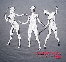 L Large Silent Hill Revelation 3D Gray T Shirt Evil Sexy Nurse Nurses