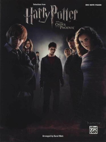 Harry Potter Order of the Phoenix Selections Big Note Piano Sheet Music Book