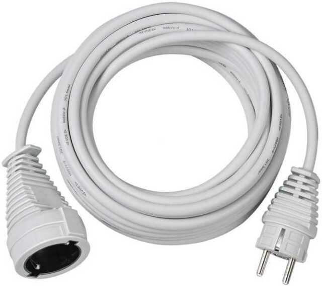 Qualitäts-Kunststoff-Verlängerungskabel weiß 10m Brennenstuhl 1168460