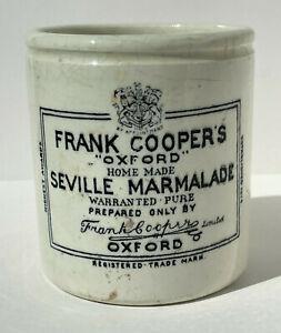 Vintage Frank Cooper's Oxford Seville Marmalade Pot