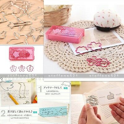 Cute Animal Shapes Paperclips Metal Bookmark Bookmarks Assorted Styles 12PCS/Box