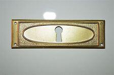 Original Georgian brass escutcheon plate key hole bureau chest of drawers RZ19