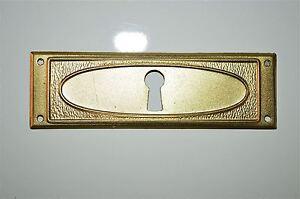 Hardware Original antique pressed steel escutcheon plate keyhole chest furniture KP16