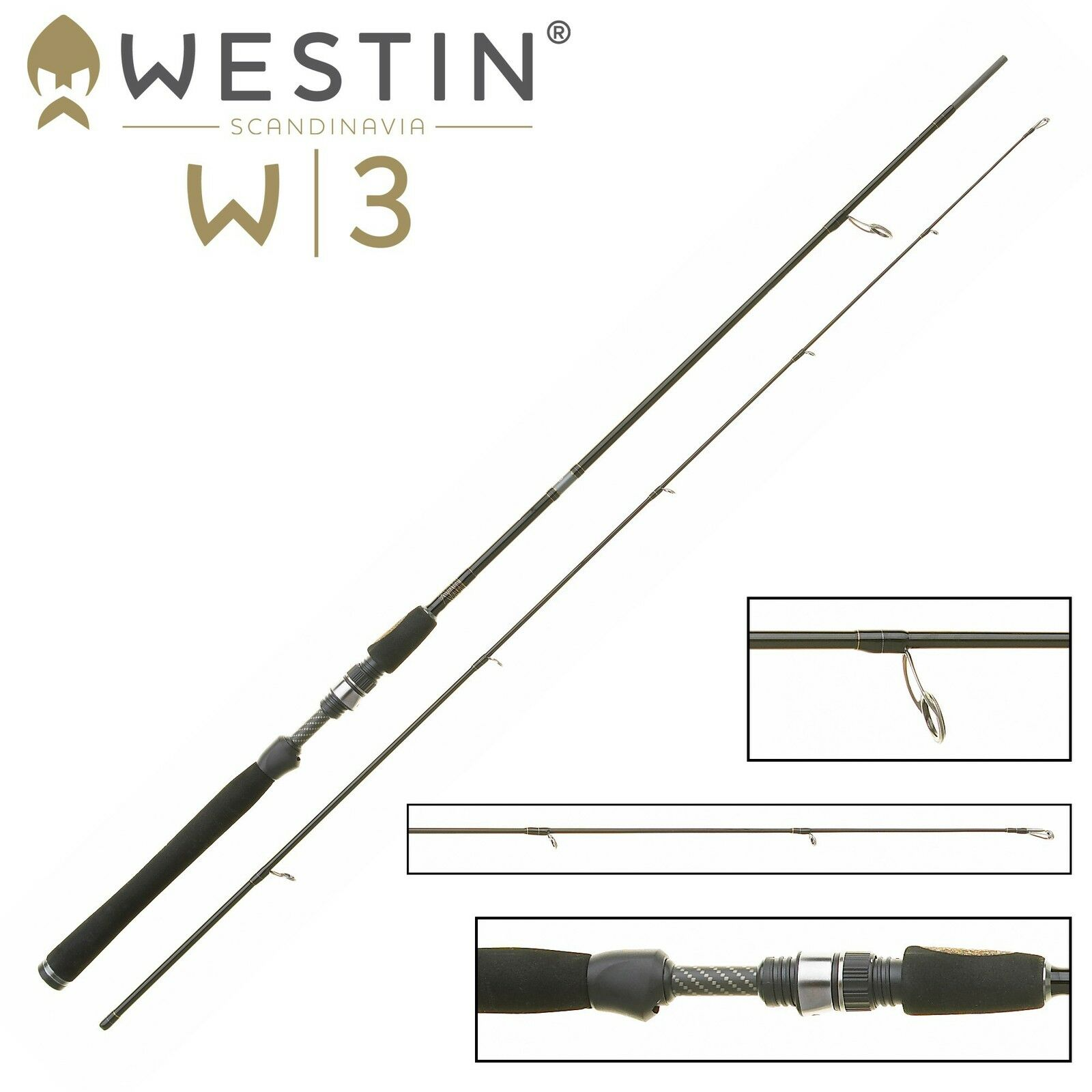 Westin W3 Grünical Grünical Grünical Jigging M Spinnrute 185cm 14-28g - Grünikalrute für Zander  | Ausgezeichnetes Handwerk  1c6408