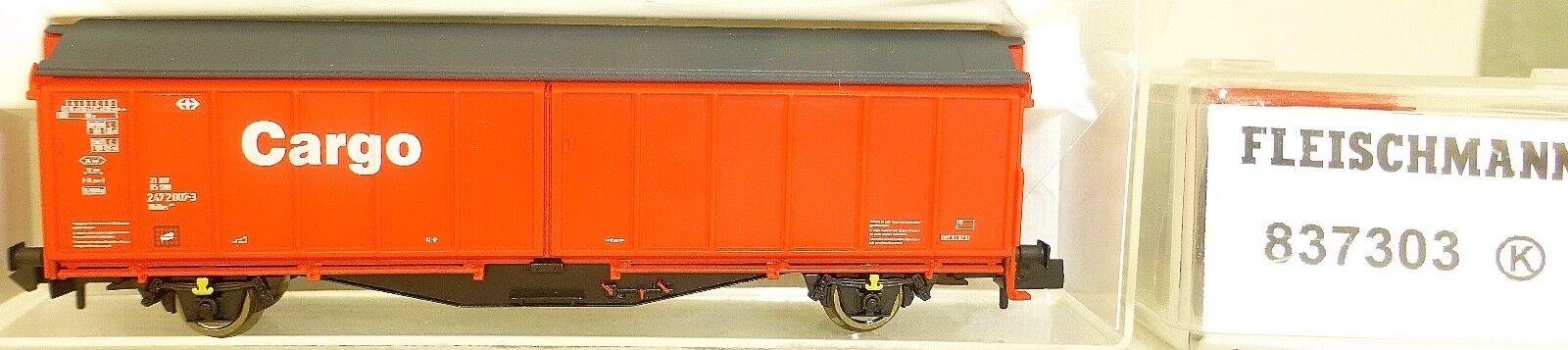 SBB Wagon avec Parroi Coulissant Hbillns DB Cargo Fleischmann 837303 N 1 160