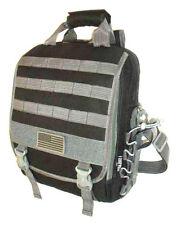 Laptop Backpack Rucksack Tactical Shoulder Messenger Bag BLACK Molle Design