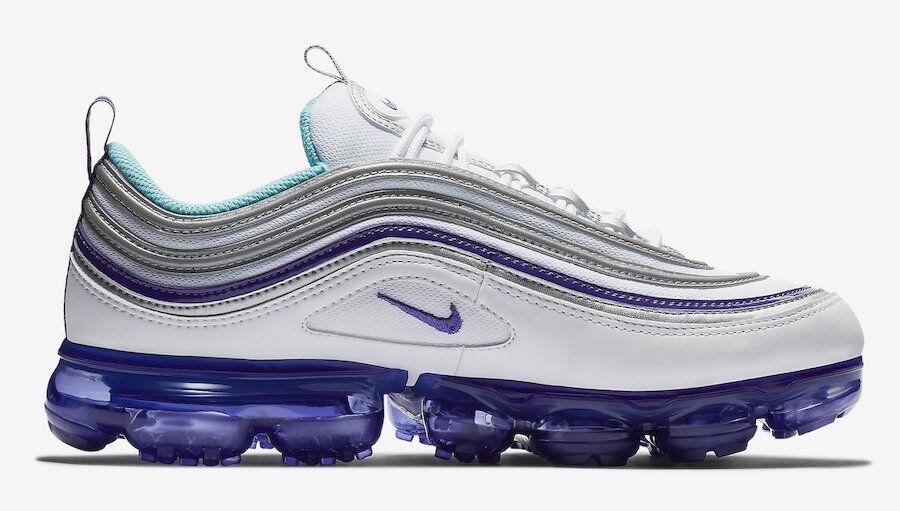 2018 Nike Nike Nike Air Vapormax 97 SZ 13 Weiß Aqua lila Grape lila OG AJ7291-100 56e386