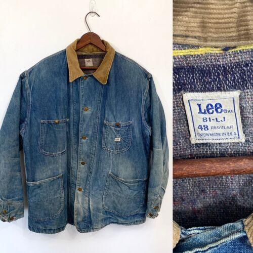 VTG Lee 81-LJ Men's Denim 3/4 Chore Jacket 48 XXL