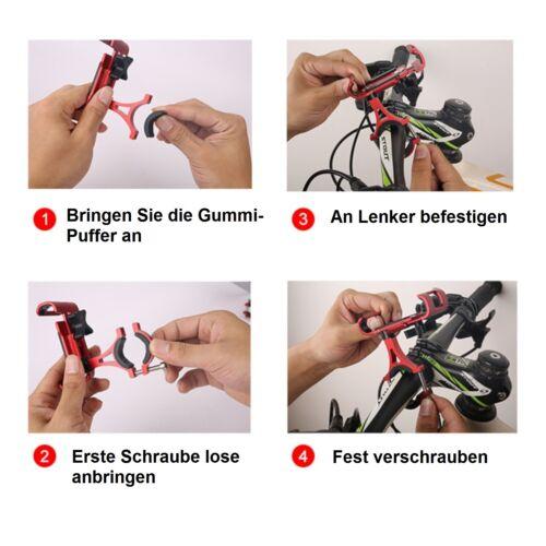 Handy Halterung für Fahrrad Universal Alu Motorrad Navi Befestigung Lenker Silb