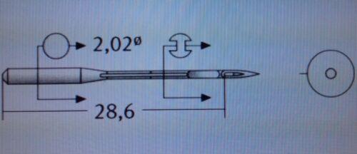SCHMETZ  NM:80 SIZE 12 B-27 DCX27 INDUSTRIAL OVERLOCKER  SEWING MACHINE NEEDLE