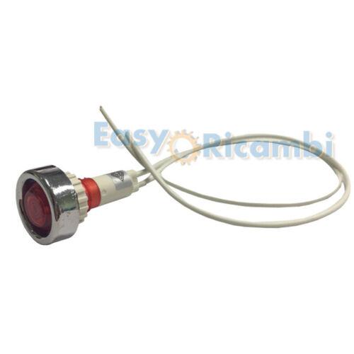 Indicatore rosso spia luminosa montaggio pannello Lente trasparente rossa 220V